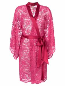 Dolci Follie floral embroidered dressing gown - Pink