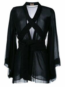 Ikonostas sheer kimono - Black