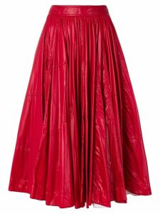 Calvin Klein 205W39nyc shiny full skirt - Red