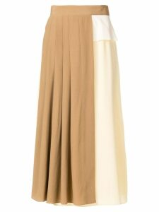 Rokh bicolour skirt - Neutrals