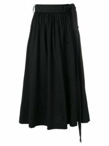 Lemaire gathered midi skirt - Black