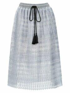 À La Garçonne lace midi skirt - Grey