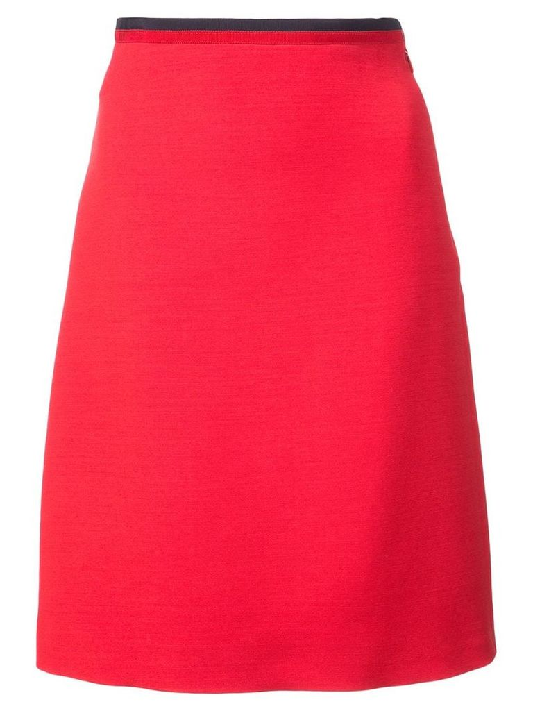 Gucci knitted Web a-line skirt - Red