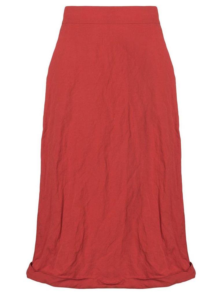 Ports 1961 crinkled midi skirt - Red
