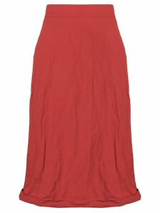 Ports 1961 crinkled midi skirt - Red