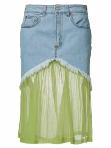 Daizy Shely panelled denim skirt - Blue