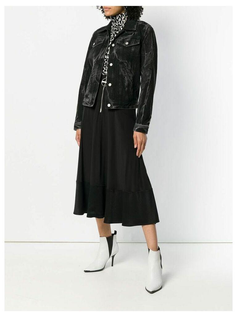 Givenchy ring zip midi skirt - Black