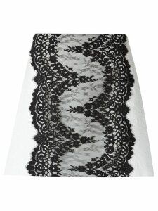 Olympiah lace panels skirt - White