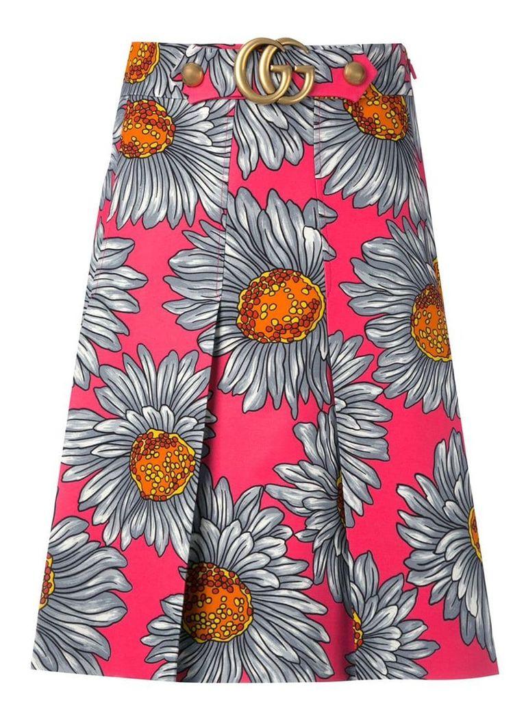 Gucci daisy print skirt - Multicolour