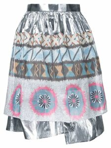 Kolor metallic gathered skirt - Multicolour