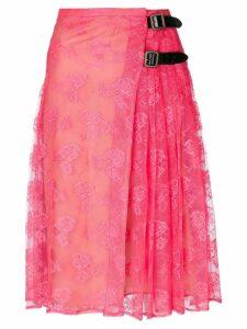 Christopher Kane neon lace kilt - Pink