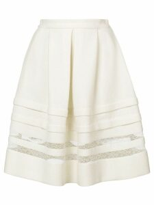 Ermanno Scervino lace detail full skirt - White