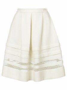 Ermanno Scervino lace detail full skirt - White