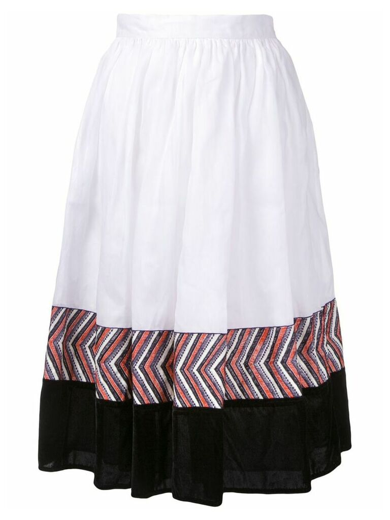 Jupe By Jackie panelled midi skirt - White