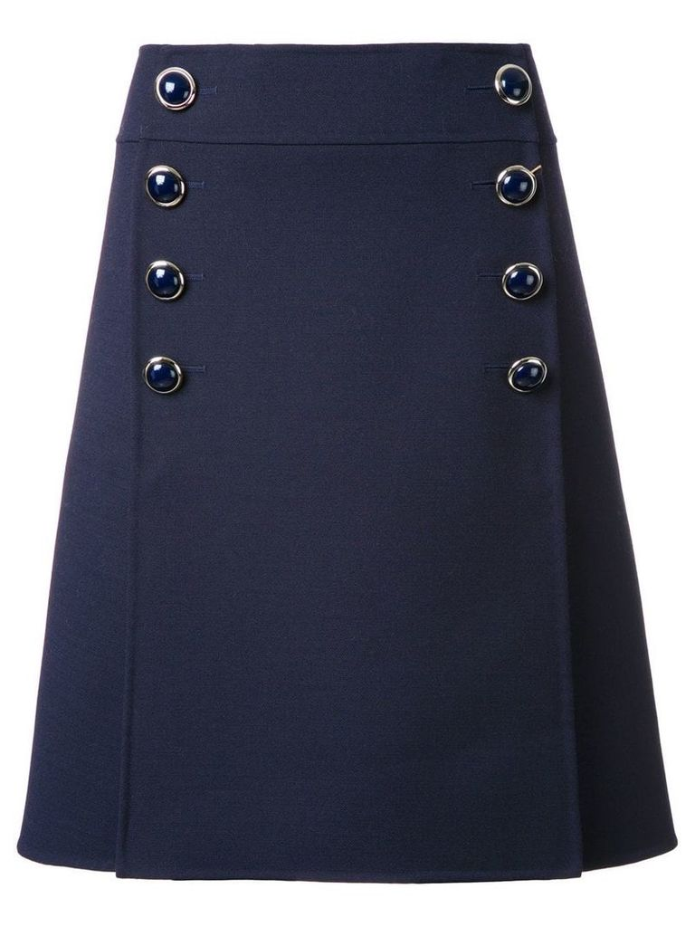 Michael Kors Collection buttoned A-line skirt - Blue