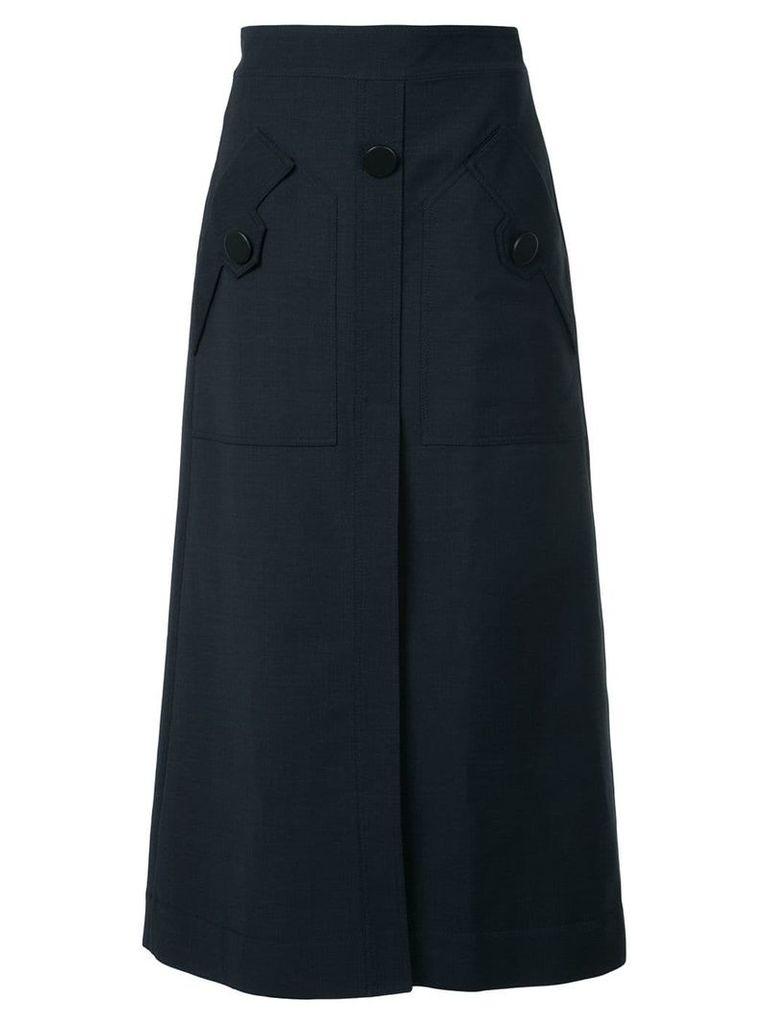 Ellery front pocket A-line skirt - Black