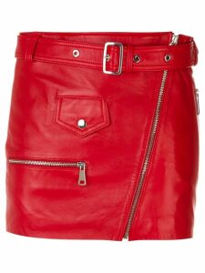 Manokhi belted short skirt - Red