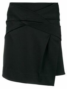 Helmut Lang draped knot skirt - Black