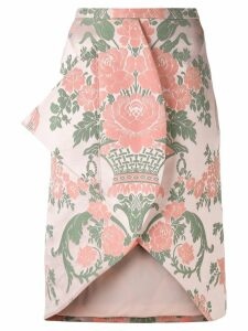 Christopher Kane jacquard skirt - Neutrals