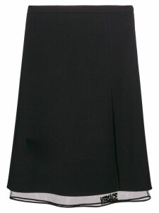 Versace midi layered skirt - Black
