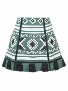 Vita Kin embroidered tassel skirt - Green