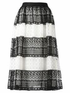 Alice+Olivia striped lace skirt - Black