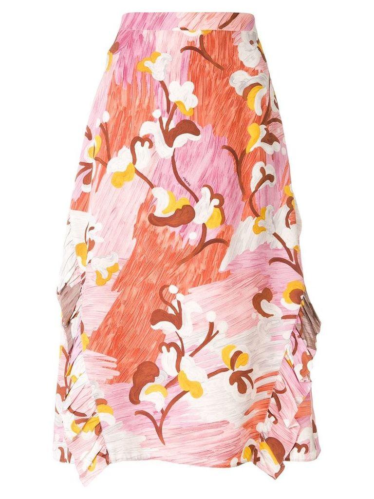Prada floral A-line skirt - Multicolour