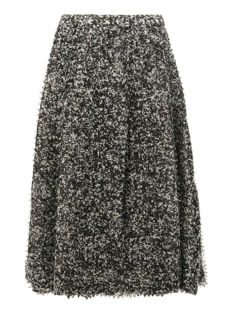 Anrealage pixelated print midi skirt - Grey