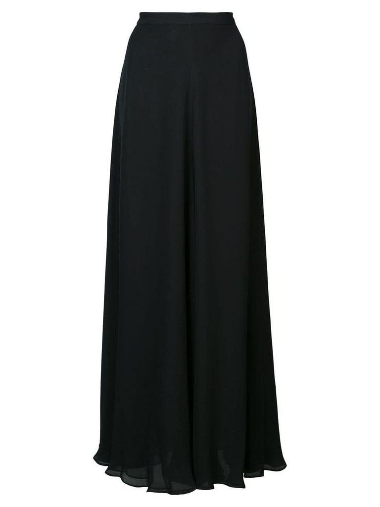 Voz long A-line skirt - Black