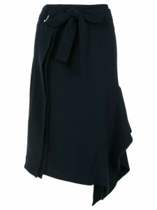 Eudon Choi side drape skirt - Blue