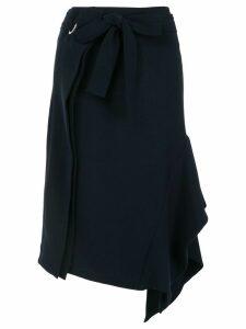 Eudon Choi side drape skirt - Blue