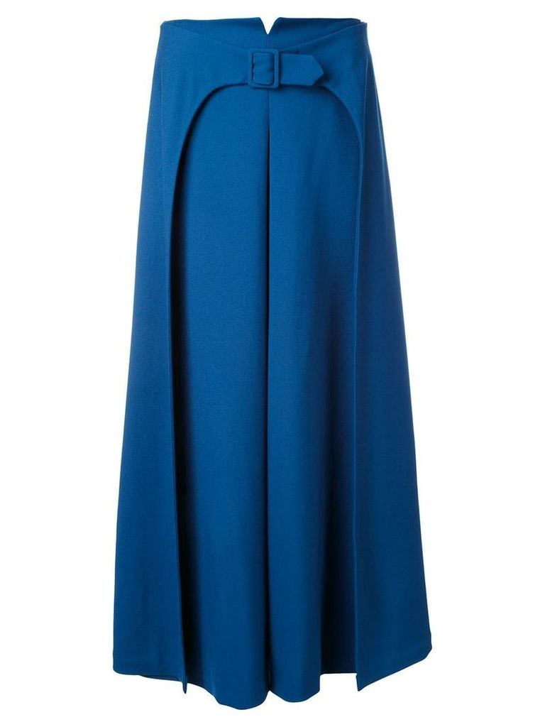 Vilshenko belted a-line skirt - Blue