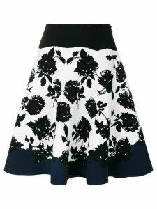 Alexander McQueen floral A-line skirt - Black
