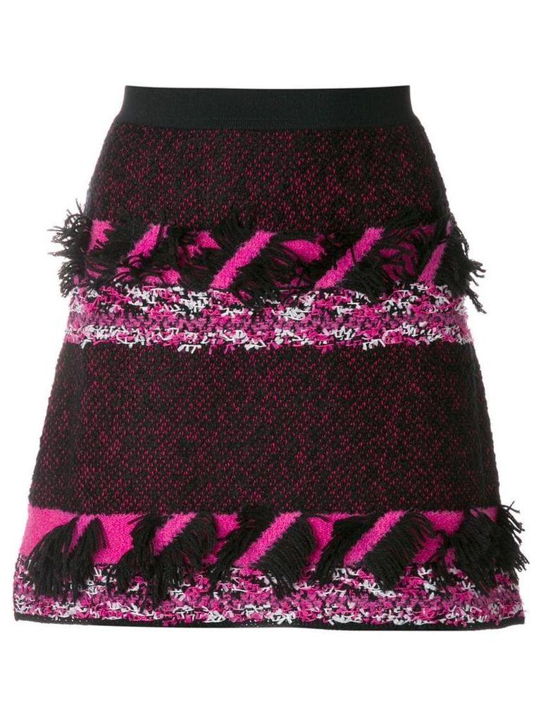 20:52 knitted fringe skirt - Multicolour