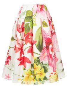Bambah lotus midi skirt - White
