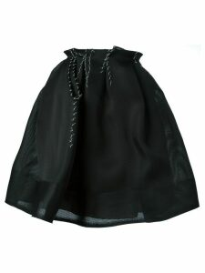 Lanvin stitching detail skirt - Black