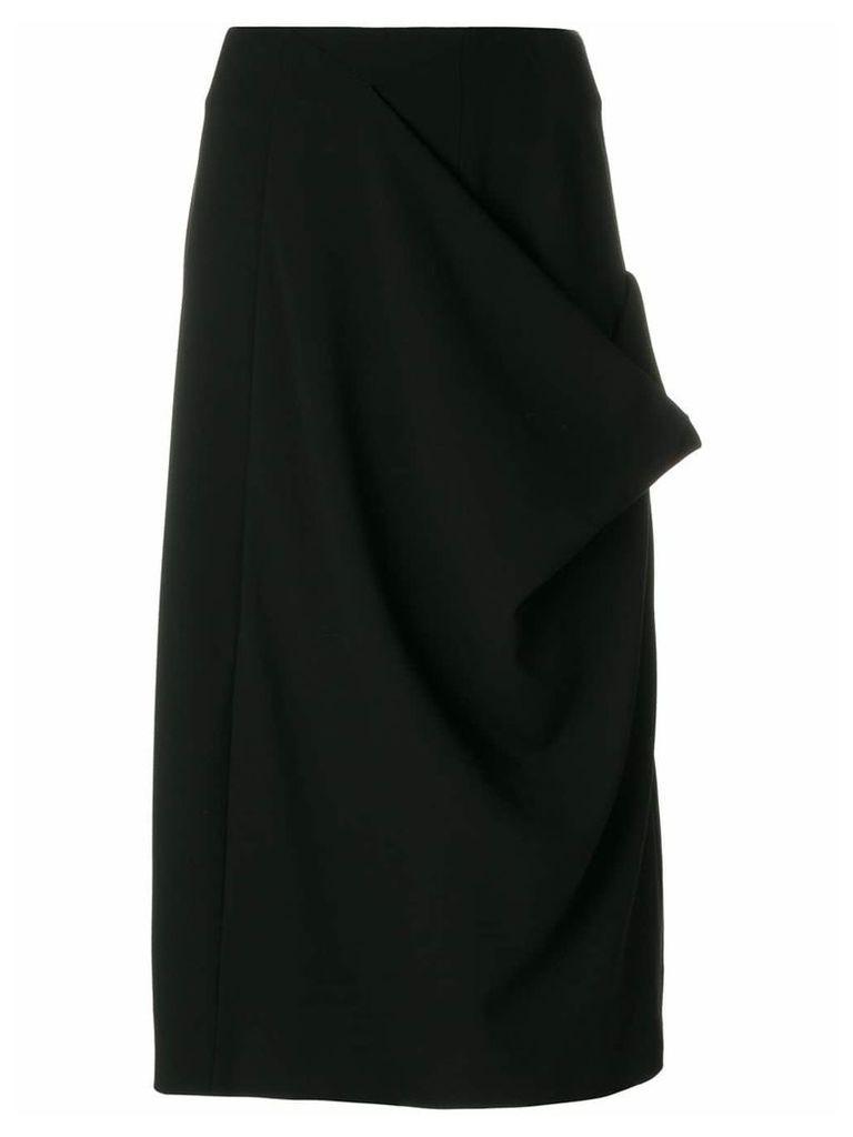 Jil Sander midi a-line skirt - Black