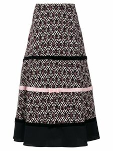 Vivetta patterned bow detail skirt - Black