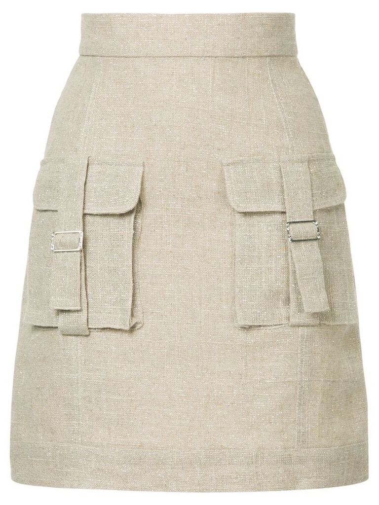 Bambah Sparkle cargo skirt - Brown