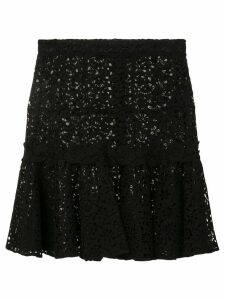 Giambattista Valli embroidered middle skirt - Black