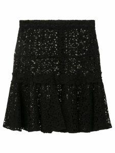 Giambattista Valli embroidered middle skirt - Black