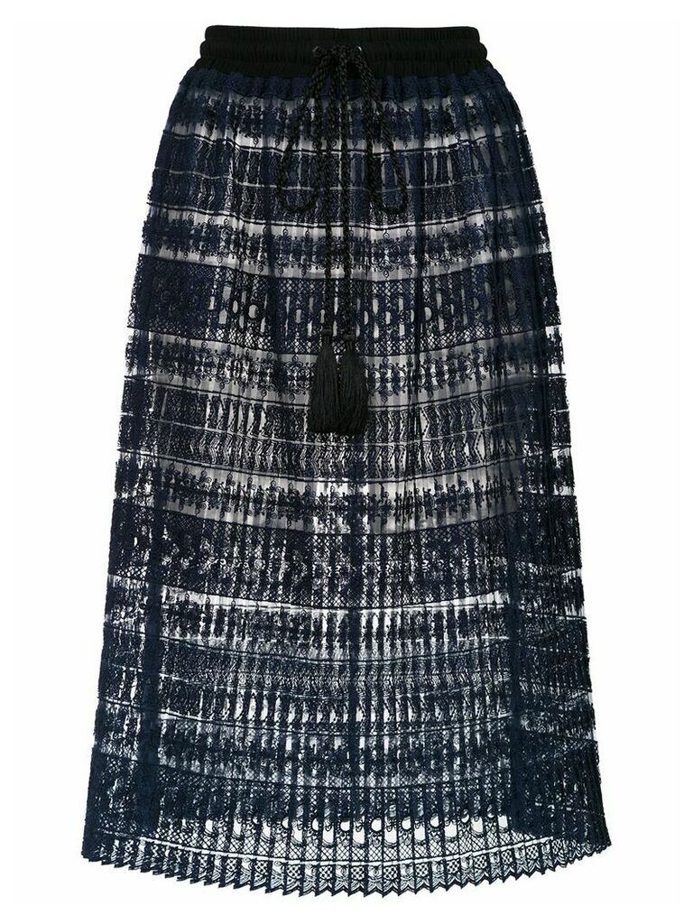 À La Garçonne lace midi skirt - Blue