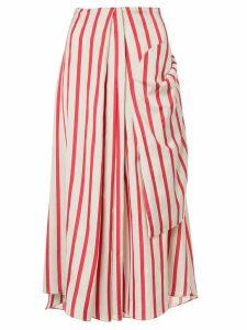 Christopher Esber multi-tuck drape skirt - Red