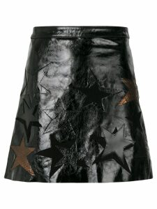 Manokhi star patch a-line skirt - Brown