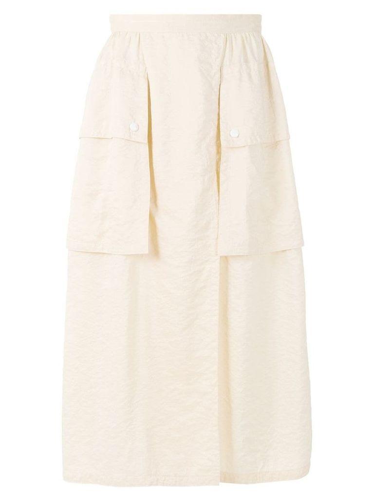 Nina Ricci oversized cargo pocket skirt - Neutrals