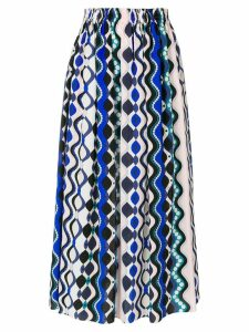 Emilio Pucci abstract print elasticated skirt - Blue