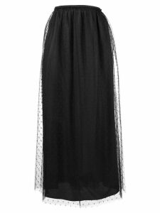 Red Valentino point d'esprit midi skirt - Black
