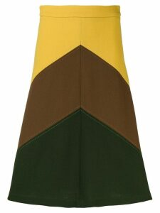P.A.R.O.S.H. Lachix colour-block skirt - Yellow