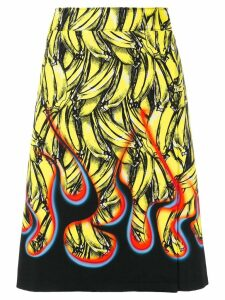 Prada banana-print A-line skirt - Yellow