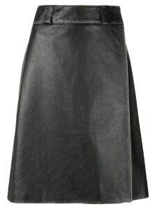 Prada calf leather skirt - Black